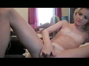 Blonde Loves To Finger Fuck Her Tight Pussy