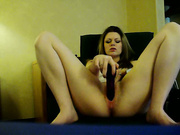 Hot Babe Takes Out A Dildo And Fucks Her Pussy Until She Cums
