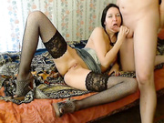 Lovely Babe Wearing Lingerie Sucks Cock And Gets Fucked