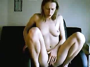 Blonde With Perfect Tits Starts Masturbating Herself